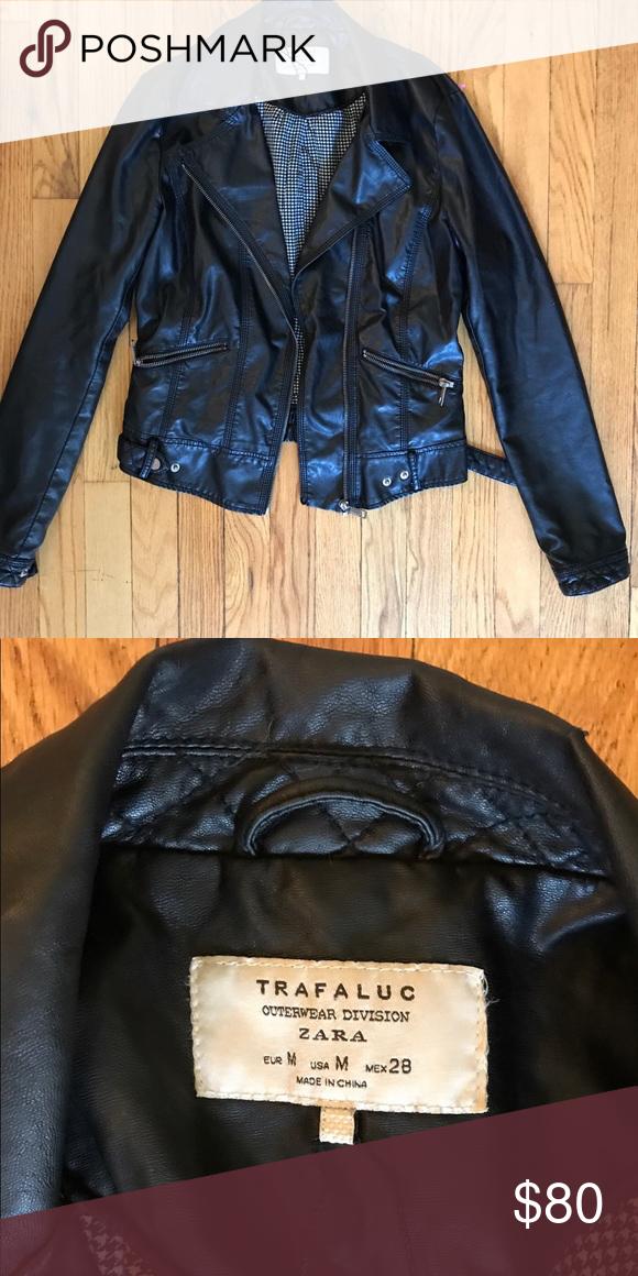 883e8c40 Zara trafaluc faux leather jacket - size M This faux leather jacket from  Zara is a