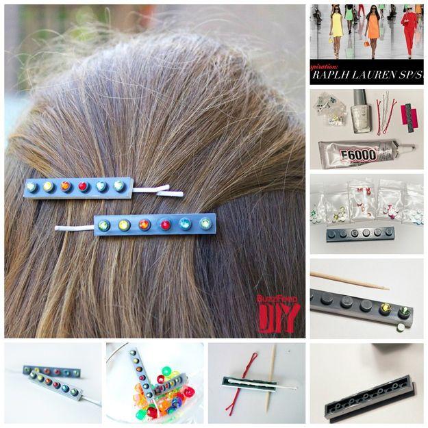 Bejeweled Hair Pins | Lego jewelry, Lego craft, Lego diy
