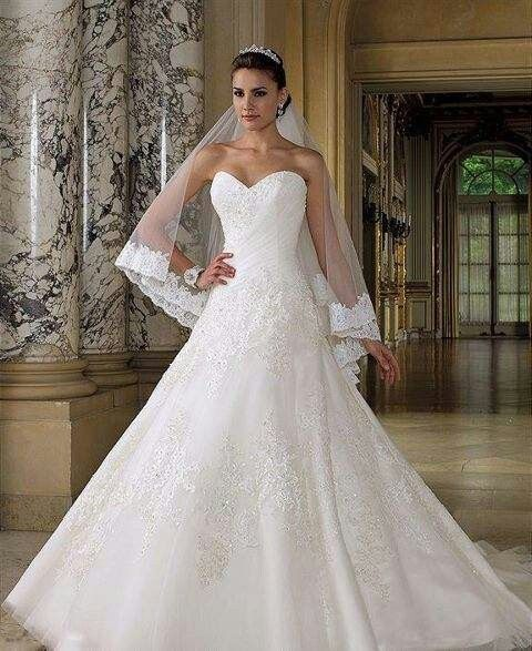 Sequin flower wedding dress