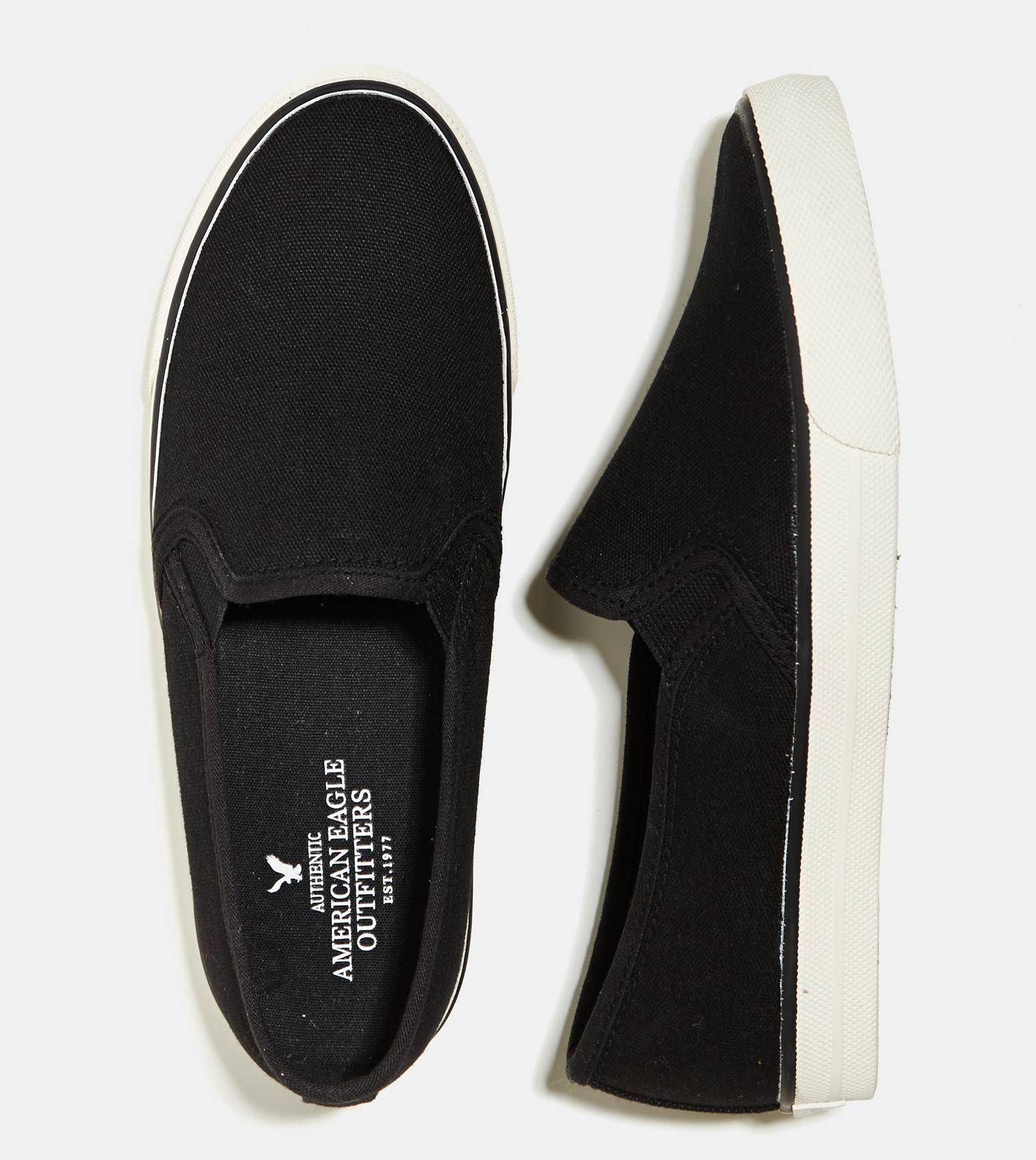 True Black AEO Slip On Sneaker | Shoes, Sneakers, Nike shoes