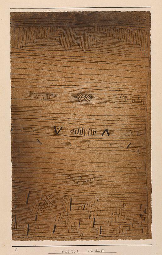 Paul Klee. Inscription by lluisribesmateu1969 on Flickr (via alfiusdebux)