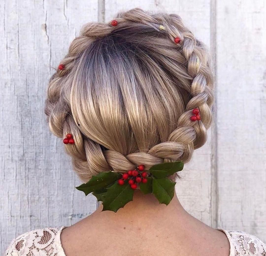 Deck The Halls And Your Favourite Braided Hairstyles With Boughs Of Holly Happy Christmas Eve To In 2020 Christmas Party Hairstyles Braided Hairstyles Hair Styles