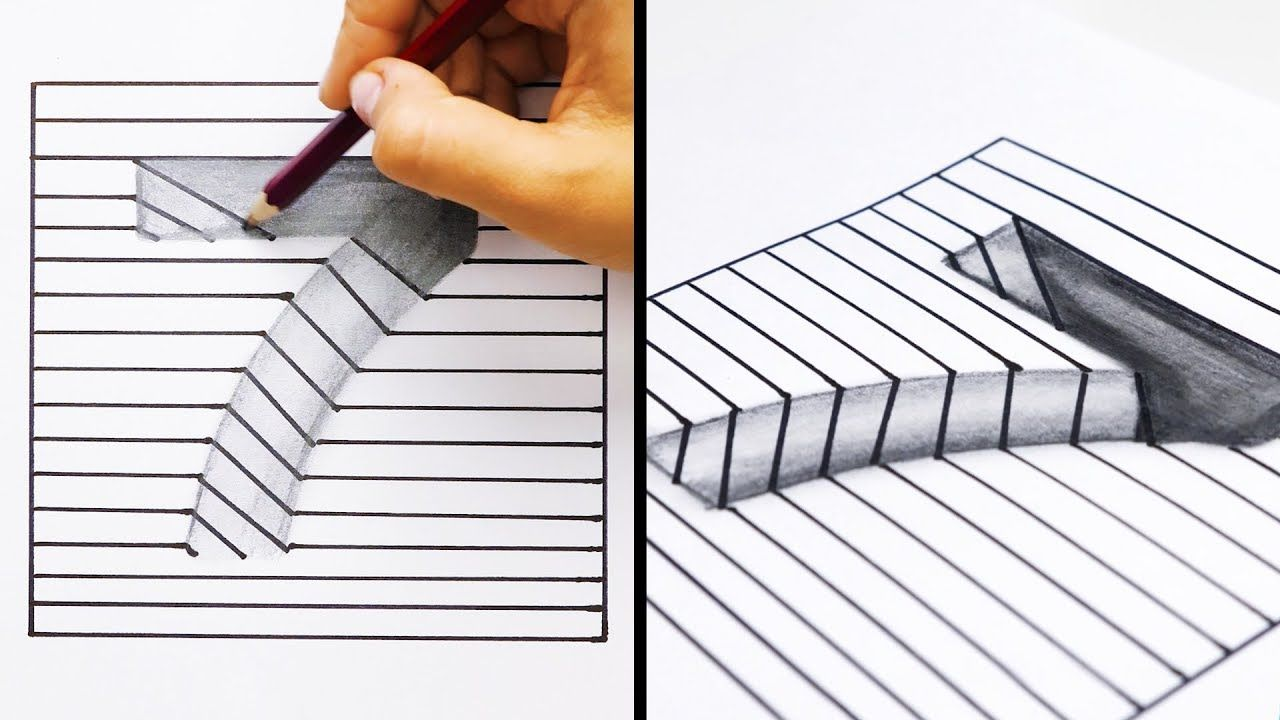 20 Easy And Cool Drawing Tricks Youtube Cool Drawings Drawing