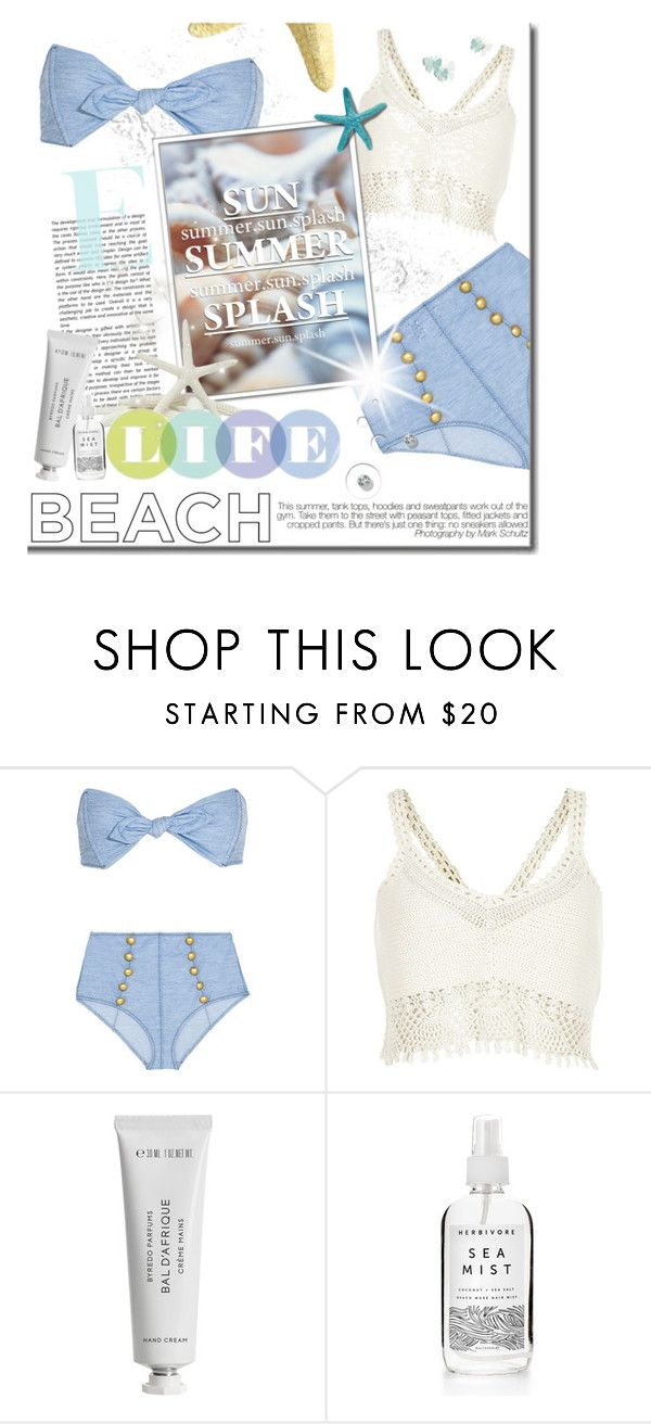 SWIMWEAR by jessinerio4l on Polyvore featuring River Island, Lisa Marie Fernandez and Byredo