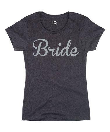 Look at this #zulilyfind! Heather Charcoal 'Bride' Cap-Sleeve Tee - Women #zulilyfinds