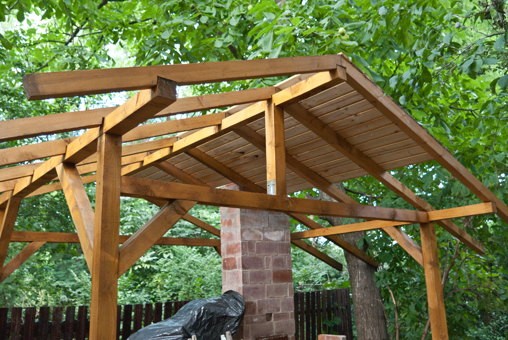 How to build a shelter for the pizza oven outdoor - Outdoor kitchen pizza oven design ...