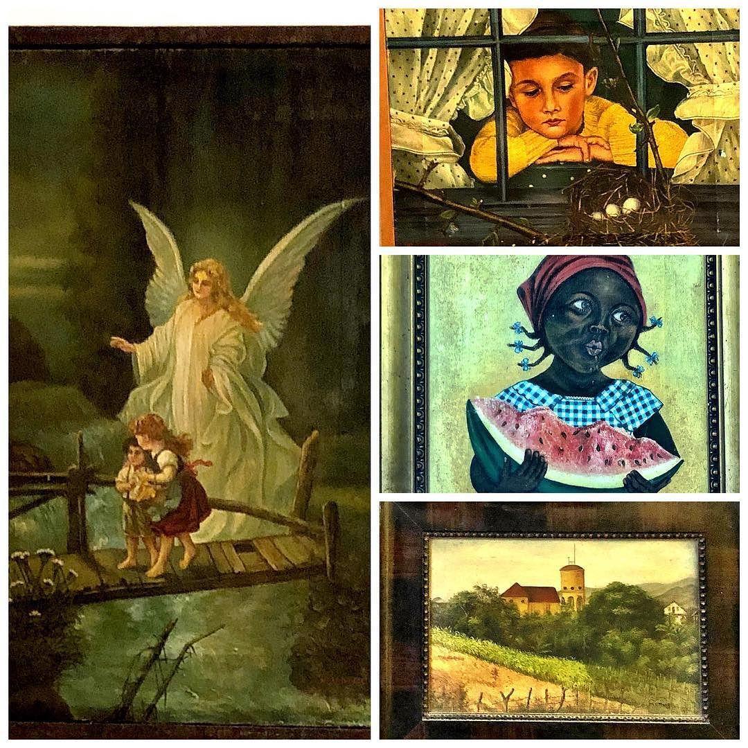 Os quadros pintados por minha tia avó Maria que acompanharam minha infância e atiçaram minha imaginação há muitos e muitos e muitos anos... Muitas vidas dentro da vida... #oldpaints