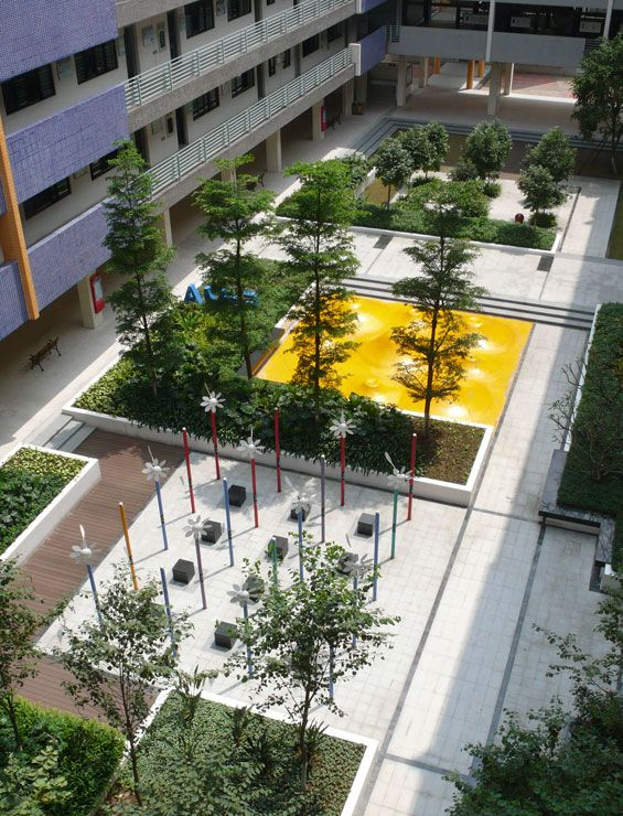 Yi zhong de sheng secondary school foshan china for Urban garden design ideas