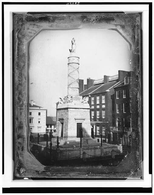 Monument Commemorating The Battle Of North Point Calvert Street And Fayette Street Baltimore Maryland 1846 Daguerreotype Baltimore City Monument Baltimore