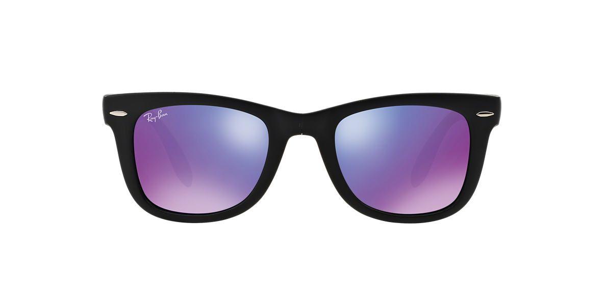 4520a0a37 RAY-BAN Black RB4105 50 FOLDING WAYFARER Purple lenses 50mm | Summer ...