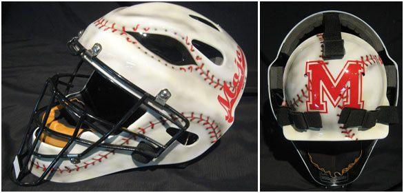 Custom Painted Catchers Helmet | Softball/baseball ...