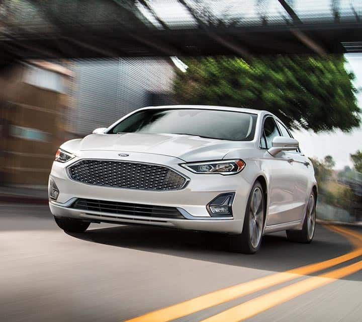 2019 Ford Fusion Shown In White Platinum On The Road Ford Fusion