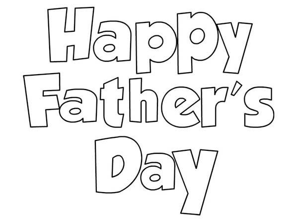 Happy Fathers Day Daddy Coloring Page