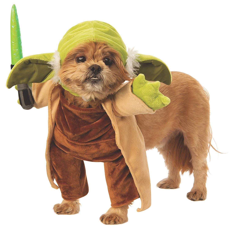 Star Wars Walking Yoda With Lightsaber Dog Costume Yoda Dog