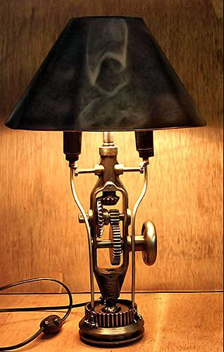 15 Ideas To Recycle Your Kitchen Tool Into Table Lamp
