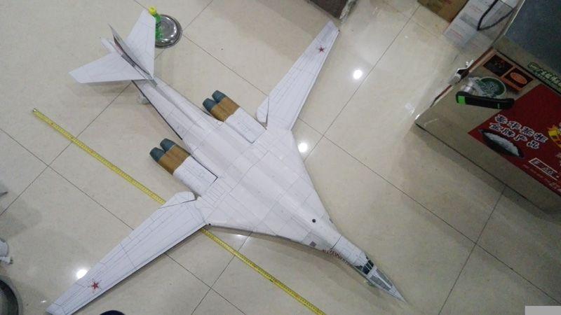 DIY Tupolev Tu 160 Blackjack Bomber Craft Paper Model