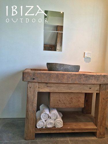 Robuuste wastafel meubel | by Ibiza Outdoor