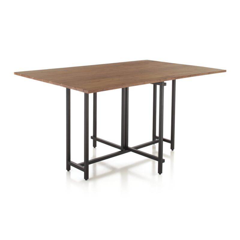Shop Origami Drop Leaf Rectangular Dining Table Lift The Leaves