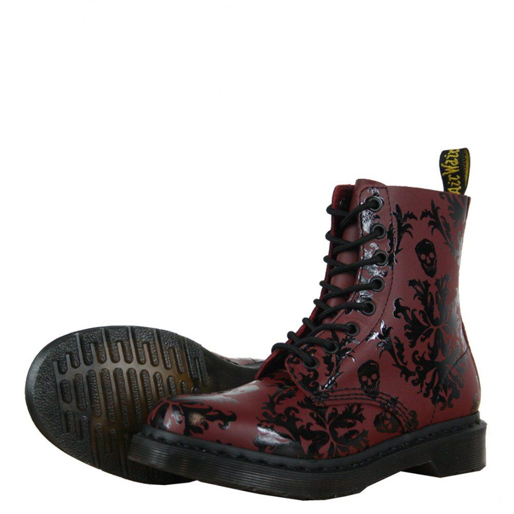 Dr Martens Cassidy 14735601 Womens Boots AW12 Cherry Red/Black ...