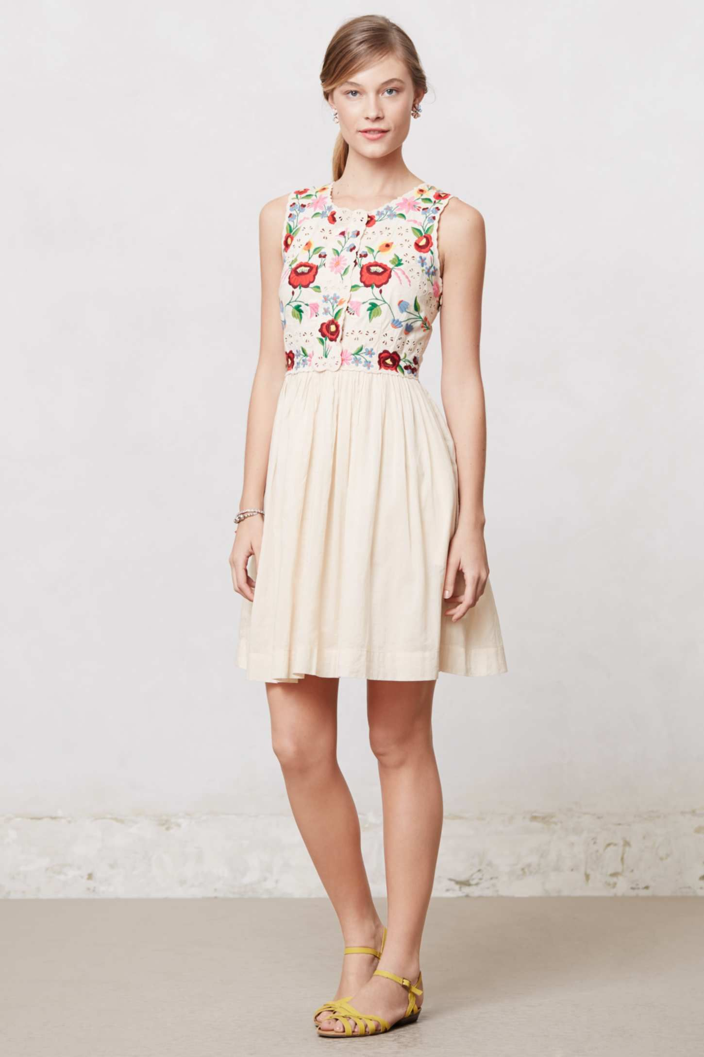 c3099d9d1dd19 nice embroidery on this dress from Anthropologie | If-I-had-more ...