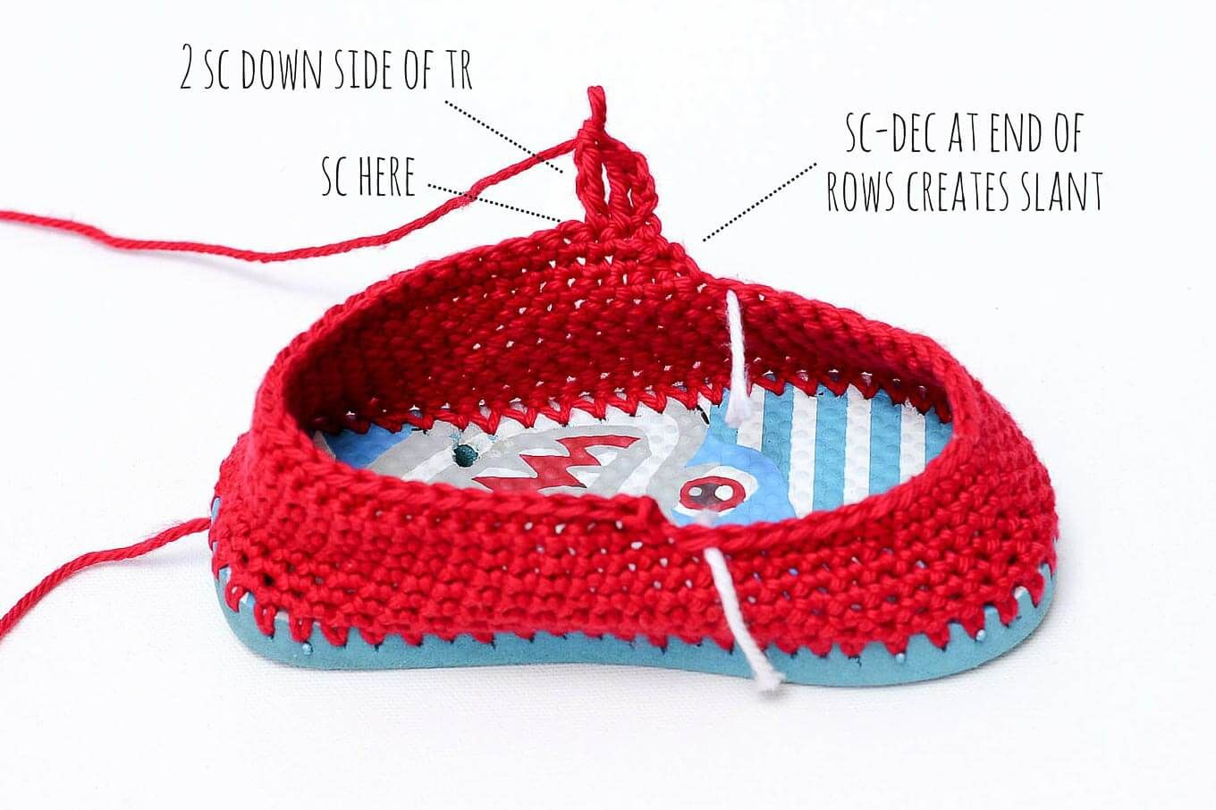 238647e39fdf Turn cheap flip flops into crochet toddler slippers with this free pattern.  The boat shoe style works well for girls and boys. Quick and easy project to  ...
