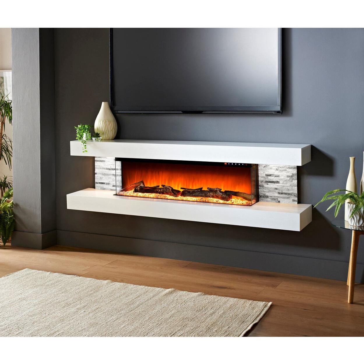 Evolution Fires Efv72w Vegas 72 Inch Wall Mount Electric Fireplace
