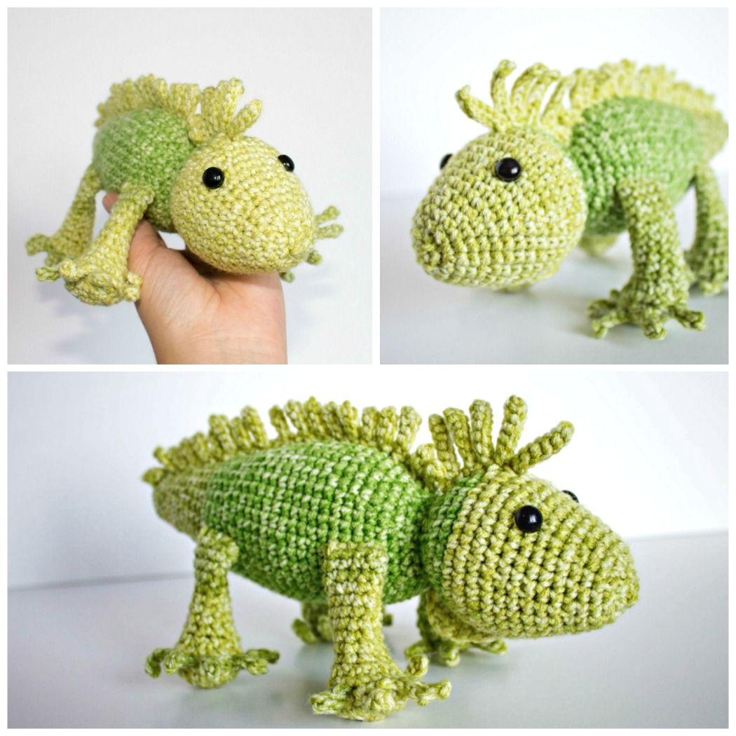 PATTERN crochet CHAMELEON pdf tutorial how crochet lizard reptile ... | 1050x1050