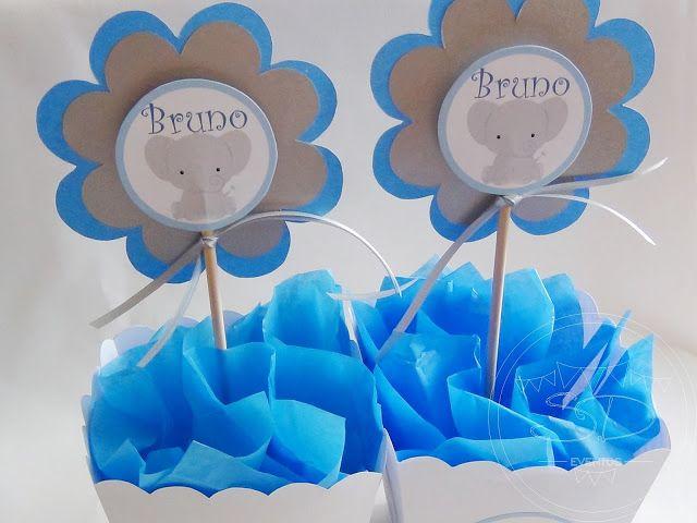 SD Eventos ELEFANTITOS BABY Centro de mesa Elefantito Centerpiece