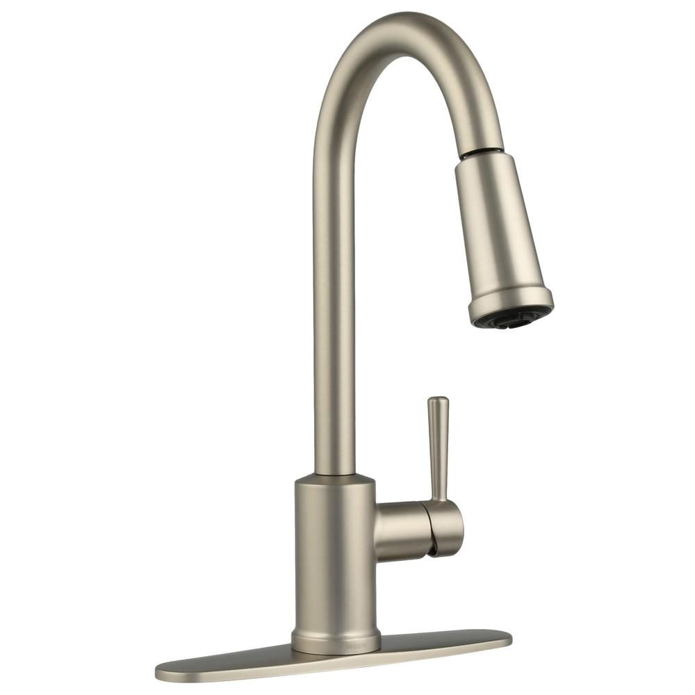 MOEN Indi Single-Handle Pull-Down Sprayer Kitchen Faucet with Reflex ...