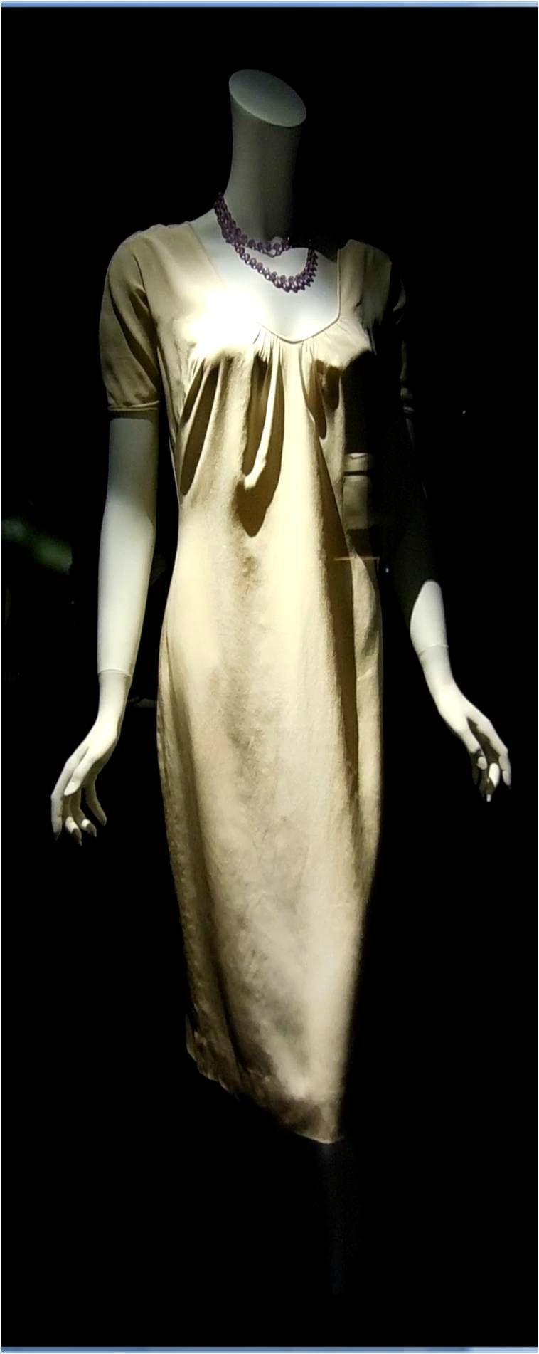 John Moore Beige Dress Worn By Marilyn On Location At The