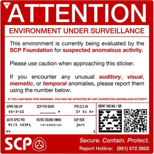 Secure Contain Protect Scp Foundation Creepypasta