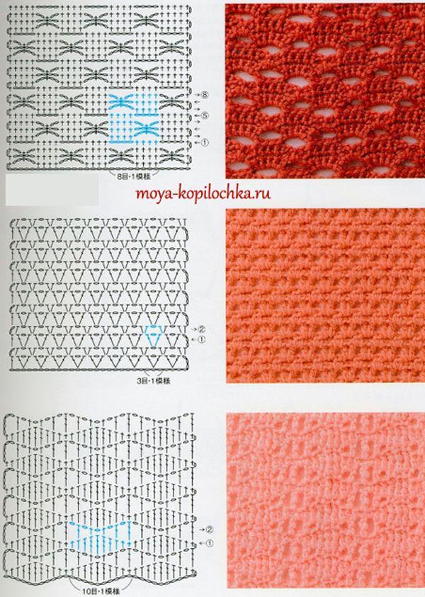 Colección de patrones y motivos, los de punto   ganchillo ...