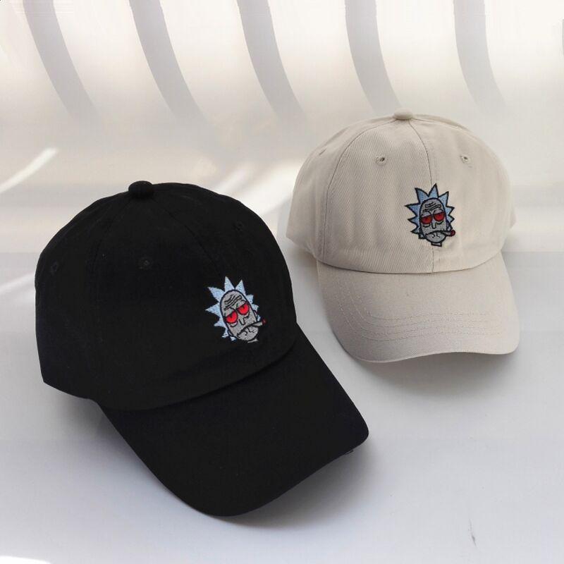 BBS131 New US Animation Rick Caps Dad Hat Rick and Morty Embroidery Hats  Adjustable Casquette Cotton Baseball Cap bone Snapback Korean Girls Long  belt ... 9844e10552ad