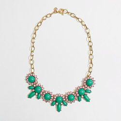 J Crew Factory crystal petal necklace