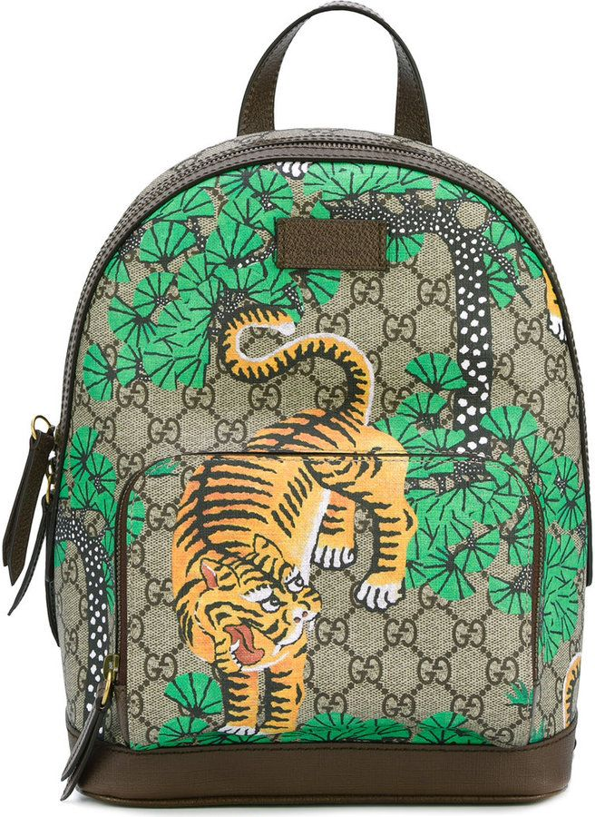 Gucci Bengal tiger print backpack
