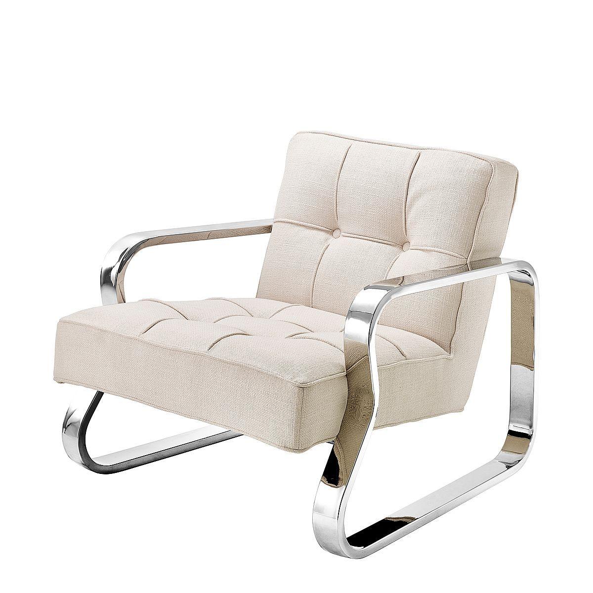 Eine Gelungene Interpretation Eines Sitzmöbels Mit Einteiliger Sitzschale  Im Edelstahlrahmen Bietet Der Sessel Grassi Von EICHHOLTZ ®.