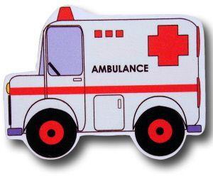 "One World Kids Handpainted Large Drawer Knob, Ambulance. 4"""" x 3"""""