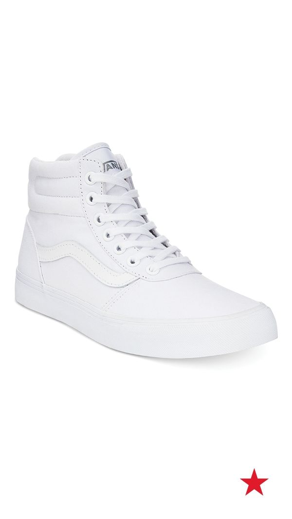 white vans shoes high tops