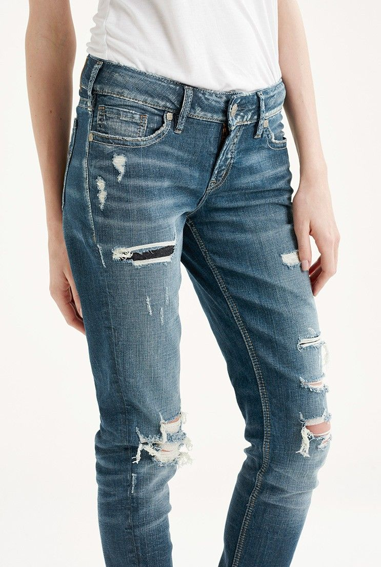 7acc60433d6 Silver Suki Mid Skinny Distressed for Tall Women | My style | Long ...