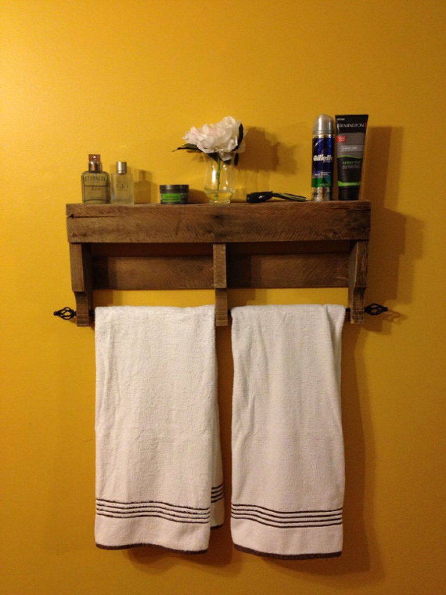 5 Ideas Que Perfeccionar N Tu Ba O Gracias A La Madera De Palets  # Mueble Toallero Bano