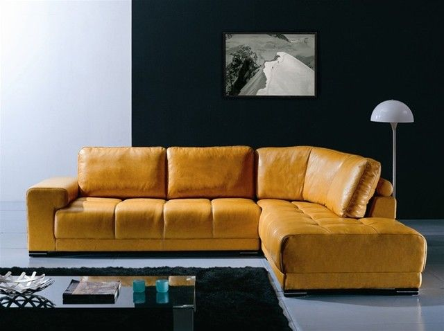 Unique Yellow Leather Sofa And Modern Sectional Sofas 24