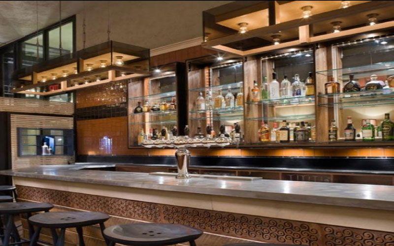 Simple old mirror Bar design, Bar design restaurant