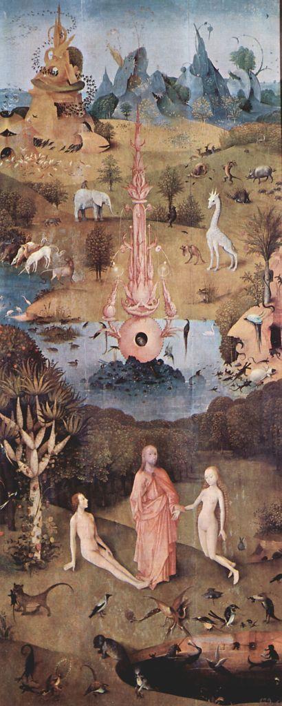 Hieronymus Bosch Der Garten Der Lüste Linker Flügel Die Schöpfung