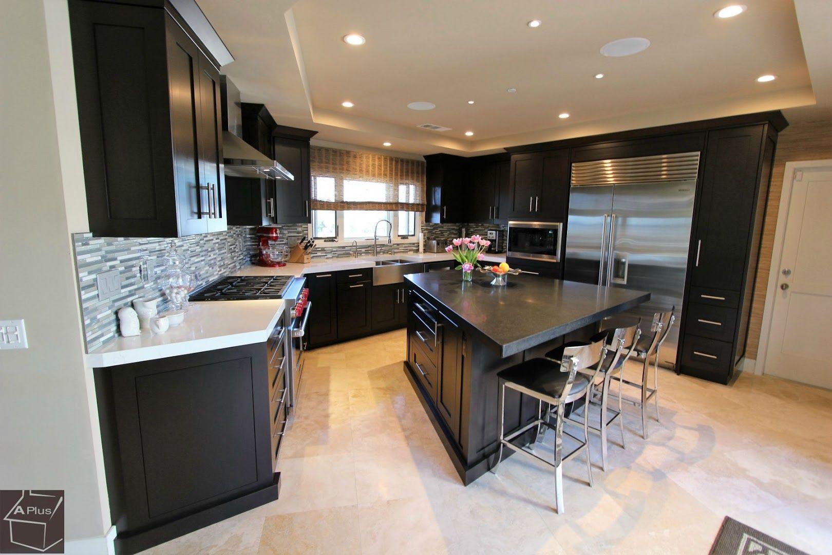 Dana Point Orange County Transitional Design Build Kitchen Remodel Kitchen Remodel White Laminate Countertops Interior Design And Remodeling