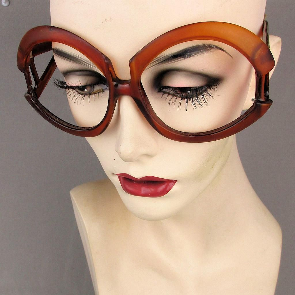 88a17889ba2 Oversized 1960s Playboy Eyeglass Frames Made in Austria -- found at  www.rubylane.com  rubylanecom