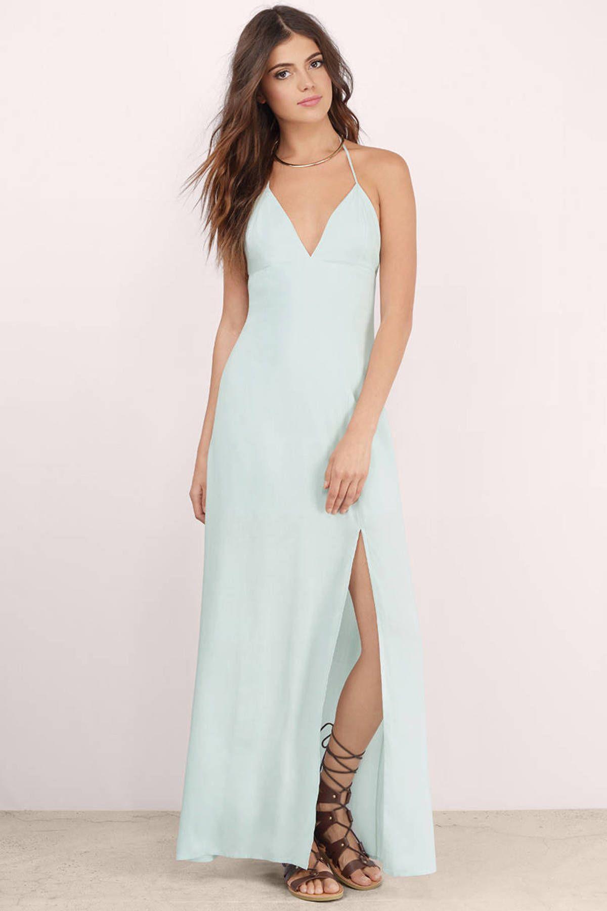 Start again slit maxi dress halter neck maxi dress maxi dresses