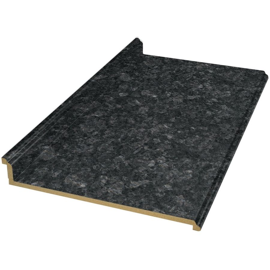 Shop BELANGER Fine Laminate Countertops 6 Ft Midnight Stone Etchings  Straight Laminate Kitchen Countertop