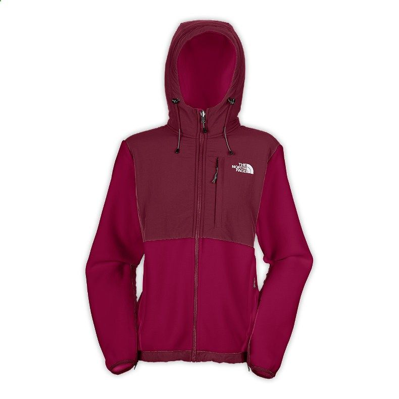Womens The North Face Denali Fleece Hoodie Loganberry Red