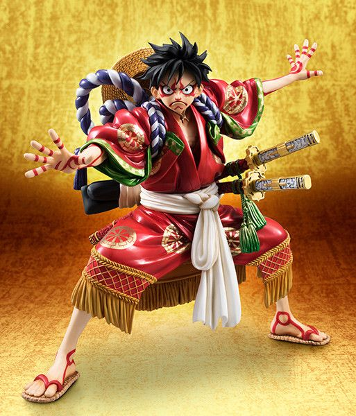 "One Piece - Monkey D. Luffy - Excellent Model - Portrait.Of.Pirates ""Kabuki-Edition"" - 1/8 (MegaHouse)"