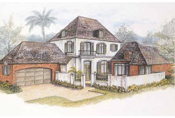 European Style House Plan 3 Beds 3 5 Baths 2908 Sq Ft Plan 301 106 Mediterranean Style House Plans French Country House French Country House Plans